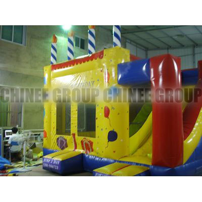 Inflatable Birthday Cake, Birthday Bouncy Castle,